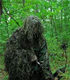 GhillieSuits Synthetic Ultra-Light Ghillie Bow Hunting Jacket Left Hand Woodland Large