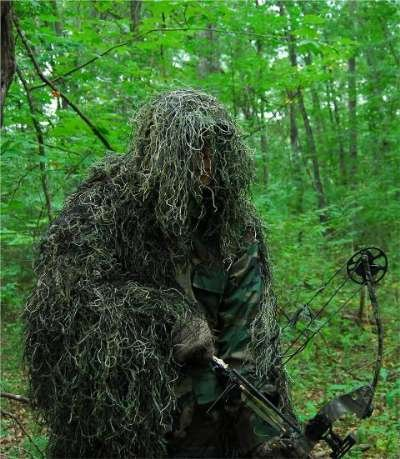 Ghilliesuits Synthetic Ultra-Light Ghillie Bow Hunting Jacket Left Hand Woodland 2Xl