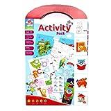 Actividad educativa cartel carry A4 paquete para niños - Tabla de medida, Mapa del Mundo y más