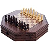 Trademark Games 12-120801 Trademark Global Octagonal Chess and Checkers Set