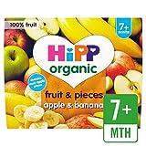 HiPP Orgánica Frutas y trozos de manzana y plátano 4 x 100g