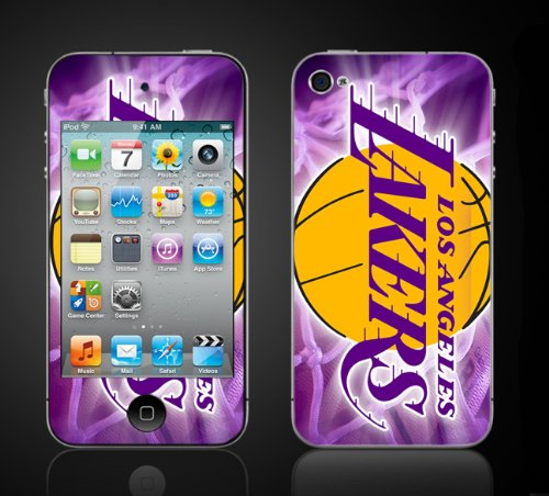 Apple iPod Touch 4th Gen Skin Kit - Lakers design. World Champions lakers баскетбольную форму lakers