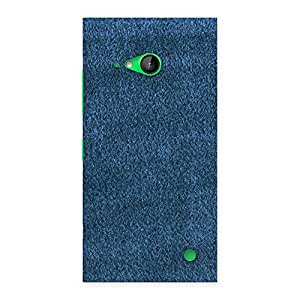Royal Blue Clothing Pattern Back Case Cover for Lumia 730