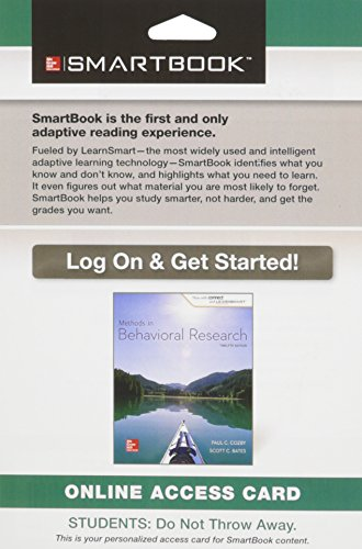 Smartbook Access Card for Methods in Behavioral Research