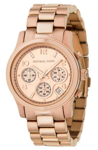 Ladies Rose Gold Chronograph Bracelet Watch MK5128