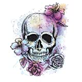 """RoomMates RMK3056SLM Bright Floral Skull Peel & Stick Giant Wall Decal, 19.12"""" x 24.75"""""""