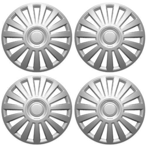 Radkappen LUXURY silber 15 Zoll passend für Fiat 500, Bravo, Brava, Doblo, Grande Punto, Evo, Idea, Linea