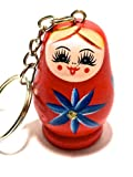 Brother Wooden Beads Big Wooden Russian Doll Fit Key Chain