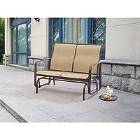 Mainstays Wesley Creek 2-Seat Sling Glider (Tan or Brown)