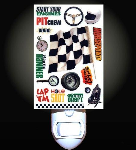 Race Car Montage Decorative Night Light front-1061035