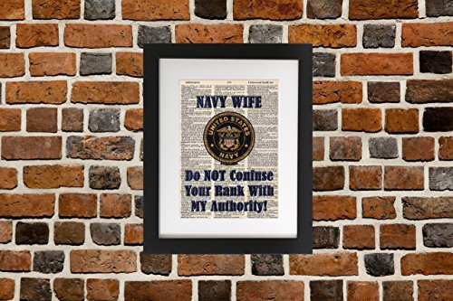 Navy Wife - Upcycled Dictionary