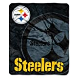 NFL Pittsburgh Steelers Raschel Plush Throw Blanket, Roll Out Design