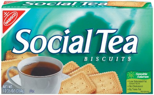 Social Tea Biscuit, 12.35-Ounce Boxes (Pack Of 6)