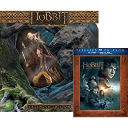 The Hobbit: An Unexpected Journey Extended Edition with Limited Edition Amazon Exclusive Bilbo/Gollum Statue (Blu-ray + UltraViolet)
