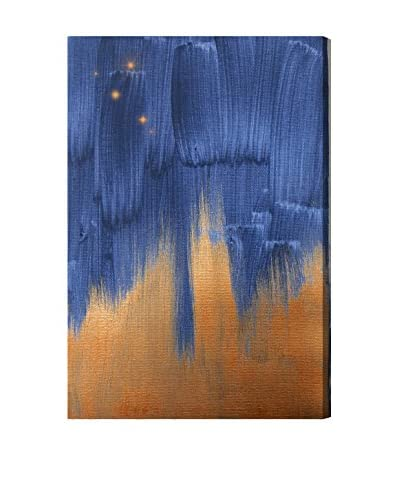 Oliver Gal Starry Night In Copper Canvas Art