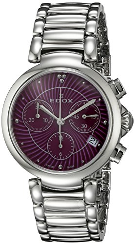 Edox-Womens-10220-3M-ROIN-LaPassion-Analog-Display-Swiss-Quartz-Silver-Watch