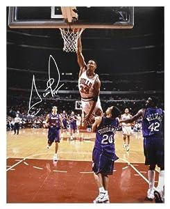 NBA Chicago Bullls Scottie Pippen Autographed 16
