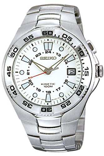 SEIKO SKA221P1,Men's Kinetic,Brand New Old Stock,Stainless Steel Case & Bracelet,Date,100m WR,SKA221 (Old Seiko Watches For Men compare prices)