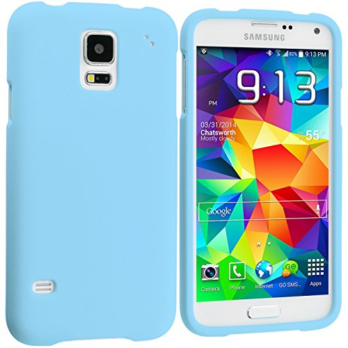 Cell Accessories For Less (Tm) Baby Blue Hard Rubberized Case Cover For Samsung Galaxy S5 - By Thetargetbuys front-1046691