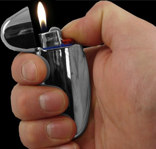 Universal Chrome Mini Bic Lighter Case #77