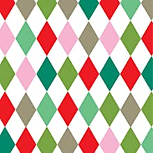 Holiday Harlequin Gift Wrap Flat 24quot X 639