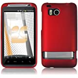 NEW RED RUBBERIZED HARD CASE COVER FOR VERIZON HTC THUNDERBOLT 4G ADR6400