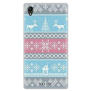 Mozine Deer Pattern Printed Mobile Back Cover For Sony Xperia Z5