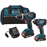 Bosch CLPK232-181 18V 2-Tool Combo Kit (Drill/Driver & Impact Driver) with (2) 2.0 Ah Batteries