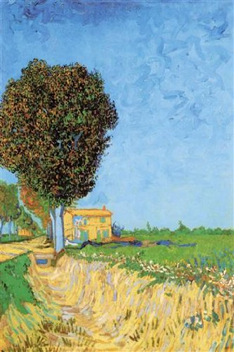 Walls 360 Peel & Stick Wall Decals: Lane Near Arles by Vincent Van Gogh (8 in x 12 in)