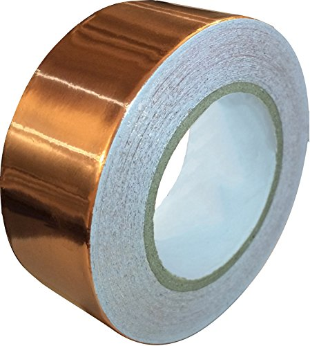Copper Foil Tape with Conductive Adhesive (1inch X 12yards) - Slug Repellent, EMI Shielding, Stained Glass, Paper Circuits, Electrical Repairs - Extra Long Value Pack At A Great Price