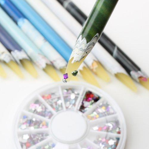 draw wax pencil gems gems gems