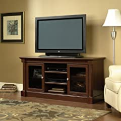 Sauder Palladia Full Size TV Stand in Cherry Finish
