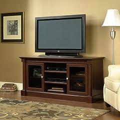 Sauder Palladia Full Size TV Stand in Cherry Finish