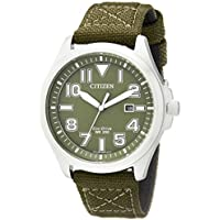 Citizen AW1410-16X Eco-Drive Military Nylon Mens Watch