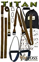 "WOSS Titan Suspension Trainer, Brown, (1 1/2"" Wide Strap Series), Made in USA"