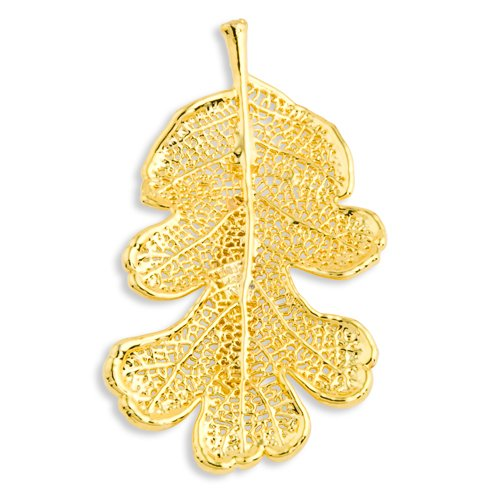 24k Gold Dipped Oak Leaf Pin