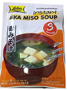 Japanese Instant Food - Aka Red Miso Soup (9 Servings)