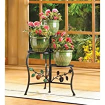 Apple Gifts & Decor Plant Stand Shelf For Three Flower Pots