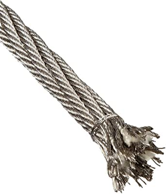Loos Stainless Steel 18-8 Wire Rope, 6x42 Fiber Core