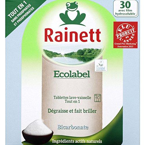 rainett-pastiglie-ecologico-lavastoviglie-tutto-in-1-bicarbonatehydro-x30-ecolabel-prezzo-per-unita-