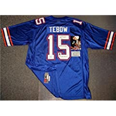 Tim Tebow Autographed Hand Signed Gators Blue Nike Jersey - PSA DNA