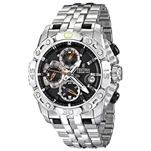 Festina Men's Stainless Steel Grey Dial Date Chronograph Watch F16542/4