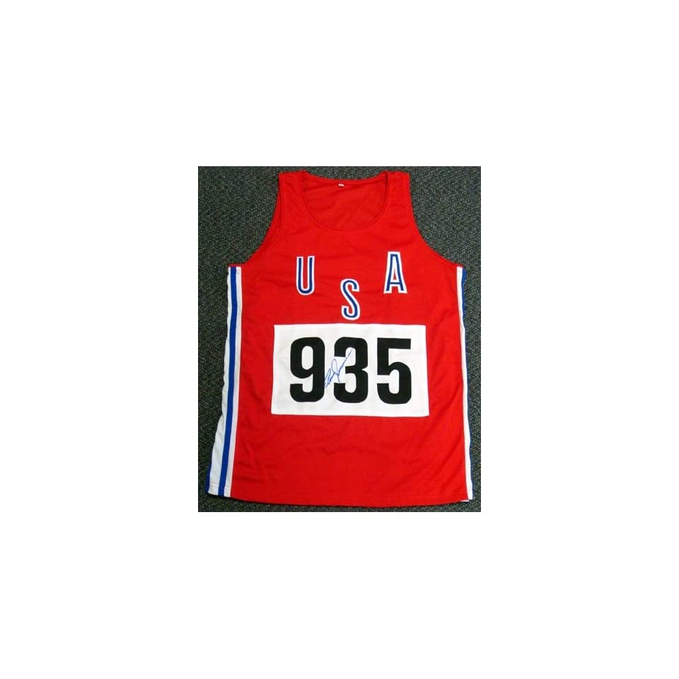 ab5a70b9853 Bruce jenner olympics autographed hand signed usa red track jersey sports  outdoors jpg 960x960 Memorabilia autograph