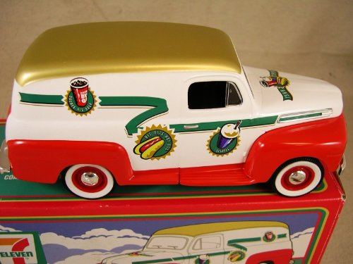 7-11 1948 Ford Panel Van Coin Bank 68036 Seven Eleven 1/25 Scale W/box & Key