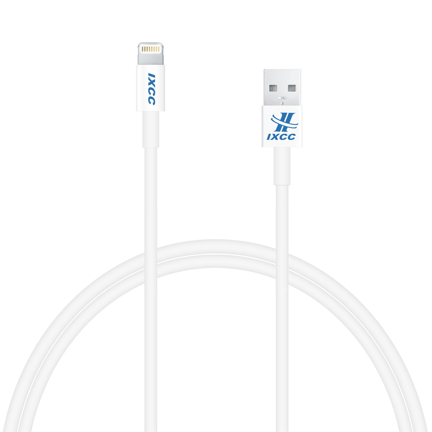 (Apple MFI Certified) iXCC ® Lightning Cable 3ft (Three Feet) Element Series 8 pin to USB SYNC Cable Charger Cord for Apple iPhone 5  ..