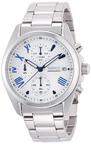[ワイアード]WIRED 腕時計 マスコミモデル クロノグラフ ペアモデル クオーツ ハードレックス 10気圧防水 AGAT406 メンズ