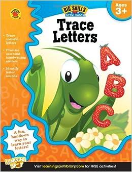 Amazon.com: Trace Letters Workbook, Grades Preschool - K (Big Skills
