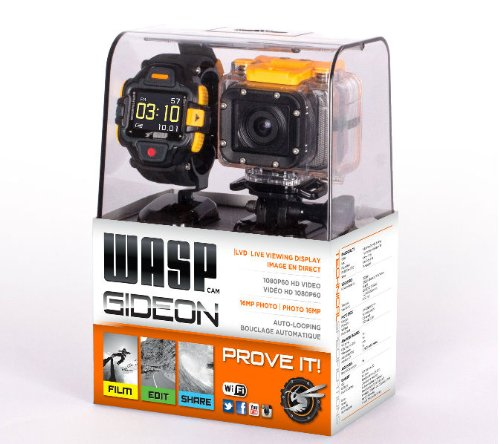 Wasp Cam 9902 Waspcam Gideon Action Sports Camcorder (W/Led Display Wrist