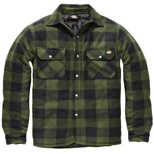 Dickies -  Camicia Casual  -  Vestito modellante  - Maniche lunghe  - Uomo verde XXX-Large