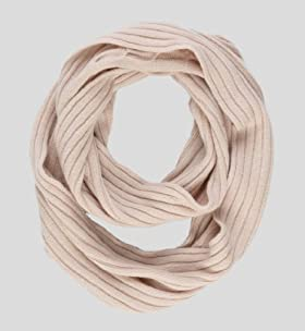 Autograph Pure Cashmere Knitted Lightweight Snood Scarf